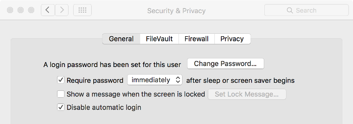 Screenshot of password setting window on macOS.