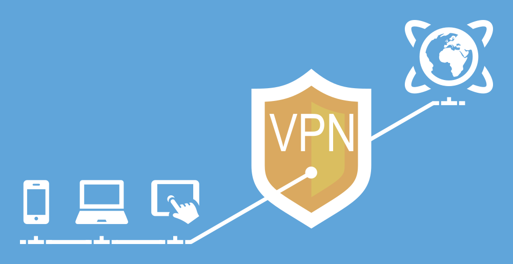 Diagram illustrating a VPN tunnel.