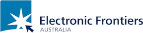 Logo for Electronic Frontiers Australia.